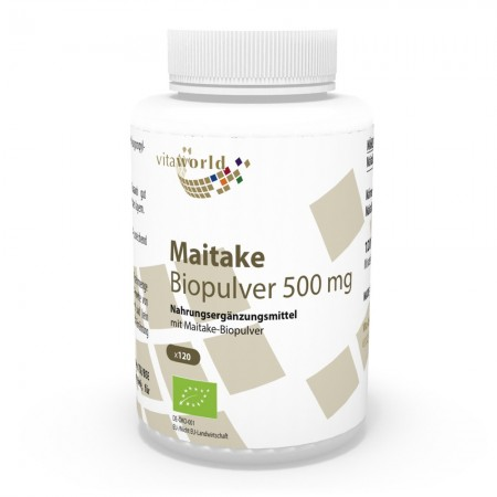 Polvere Organica Maitake 500 mg 120 Capsule Vegetariano/Vegano