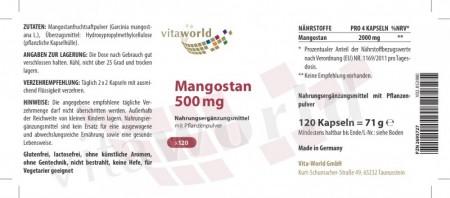 3er Pack Mangostan 3 x 120 Kapseln Vegetarisch/Vegan
