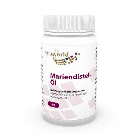 Naturalrabatt 6+1 Mariendistelöl 1000mg + Vitamin E 10mg 7 x 60 Kapseln
