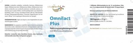 3er Pack Omnilact Plus 3 x 100 Kapseln Vegetarisch/Vegan
