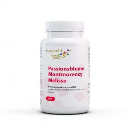 Passionsblume Montmorency Melisse 60 Kapseln Vegan/Vegetarisch