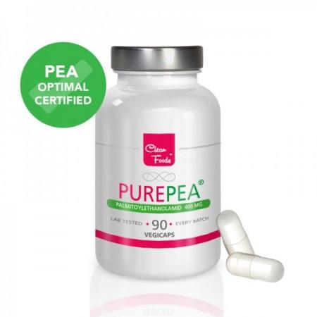 Pure PEA Palmitoylethanolamid 400mg 90 Kapseln Vegan/Vegetarisch
