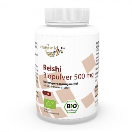 Reishi Pulver Bio Qualität 500mg 120 Kapseln VEGAN/VEGETARISCH