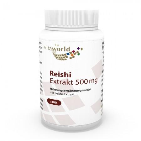 Estratto di Reishi 500 mg 100 Capsule VEGANO / VEGETARIANOGanoderma lucidum