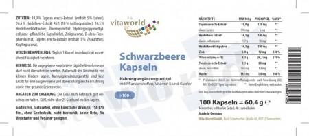 3er Pack Schwarzbeer 200mg 300 Kapseln