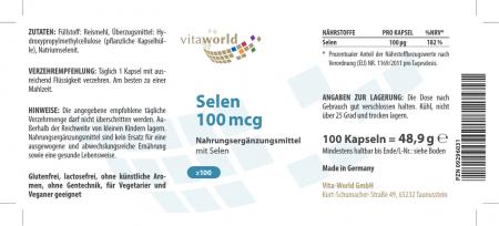 Selenio 100mcg 100 Capsule VEGANO / VEGETARIANO