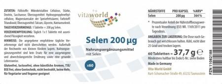 Selenio 200mcg 60 Compresse VEGANO / VEGETARIANO