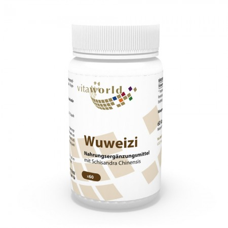 Wuweizi Schisandra with Schisandra Chinensis 500 mg 60 Capsules Vegan/Vegetarian