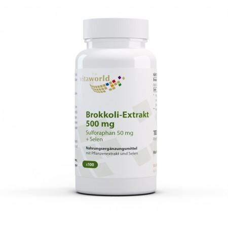 Brokkoli Extrakt 500mg 100 Kapseln Vegan/Vegetarisch