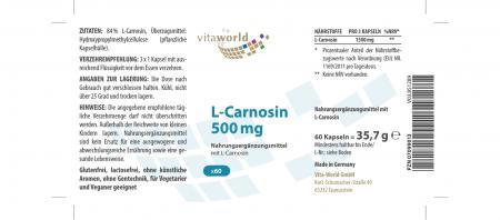 Naturalrabatt 6+1 L-Carnosin 500mg 7 x 60 Kapseln