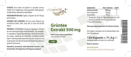 3er Pack Grüntee Extrakt 500mg 3 x 120 Vegi Kapseln