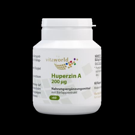 Naturalrabatt 6+1 Huperzin A 200 mcg aus Bärlapp-Extrakt 7 x 60 Kapseln Vegetarisch/Vegan