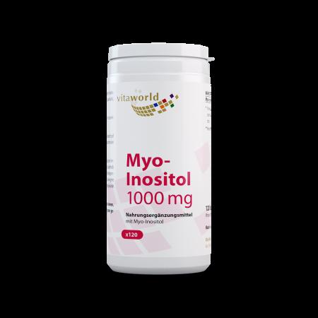 Myo-Inositol 1000 mg 120 Kapseln Hoch Dosiert Vegetarisch/Vegan