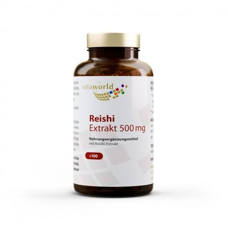 Estratto di Reishi 500 mg 100 Capsule Vegano/Vegetariano Ganoderma lucidum