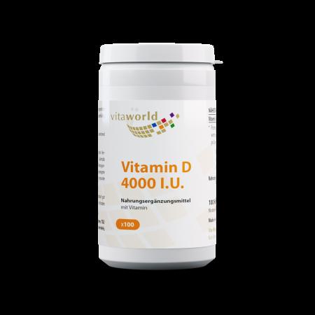 Vitamin D3 4000 I.U. 100 Kapseln Vegetarisch