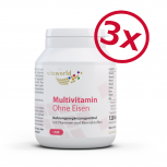 3 Pack Multivitamin A-Z Without Iron 3 x 120 Capsules (24 vital nutrients from A to Z)