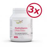 3er Pack Multiplex Multivitamin A - Z Ohne Eisen 3 x 120 Kapseln