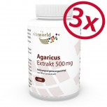 3 Pack Agaricus extract 500mg 300 Capsules