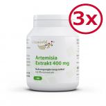 Pack di 3 Estratto di Artemisia annua 400mg 300 Capsule - Secco, Assenzio