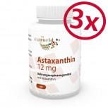 3 Pack Astaxanthin 12 mg 3 x 60 vegetarian capsules