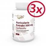 Pack di 3 Auricularia 500mg 300 Capsule (Auricula-judae, Orecchio di Giuda)