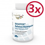 3 Pack Basotop Alkalising mineral powder without sodium citrate 2250g
