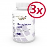 Pack di 3 Beta-glucano 500mg 270 Capsule
