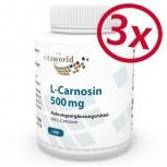 3er Pack L-Carnosin 500mg 300 Kapseln