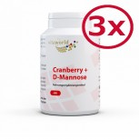 Pack of 3 Cranberry + D-Mannose 3 x 90 Capsules
