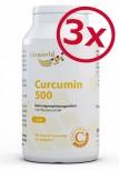 Pack di 3 Curcumina 500mg 3 x 120 capsule vegetali Capsule curcuma curcuma curcuma curcuma curcuma C3 complesso Piperina