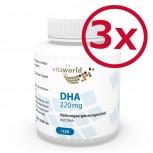3 Pack DHA 220mg Omega-3 360 Capsules