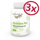 Pack di 3 Guarana Puro 500mg 3 x 120 Capsule