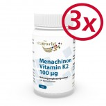 3er Pack Menachinon Vitamin K2 100μg 180 Vegi Kapseln