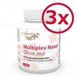 3er Pack Multivitamin Natal ohne Jod 360 Vegi Kapseln
