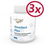 Pack di 3 Omnilact plus 300 Capsule - Lactobacillus - Bifidobacterium