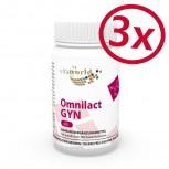 3 Pack Omnilact gyn 60 Capsules (Lactobacillus, probiotic)