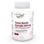 Premium Red Reishi Extract 500 mg 40% Polysaccharides 100 Capsules VEGAN / VEGETARIAN