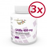 Pack di 3 SAMe 400mg 180 Capsule (S-adenosilmetionina)