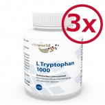 3er Pack L-Tryptophan 1000mg 3 x 120 Tabletten