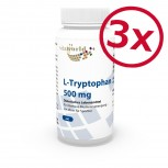 3 Pack L-Tryptophan 500mg 180 Capsules