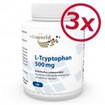 3er Pack L-Tryptophan 500mg 270 vegetarische Kapseln
