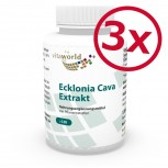 3er Pack Ecklonia Cava Extrakt 50mg + Spirulina 360 Vegi Kapseln