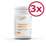 Pack di 3 Vitamina D 4000 I.U 300 Capsule vegetali